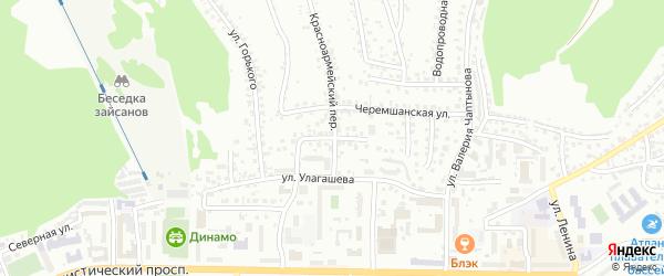 Улица Пятницкого на карте Горно-Алтайска с номерами домов