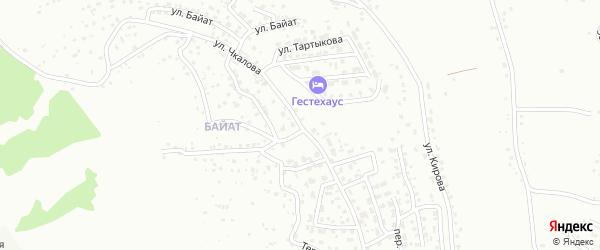 Улица Чкалова на карте Горно-Алтайска с номерами домов