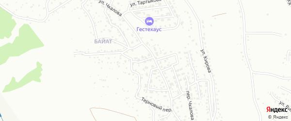 Ягодный переулок на карте Горно-Алтайска с номерами домов