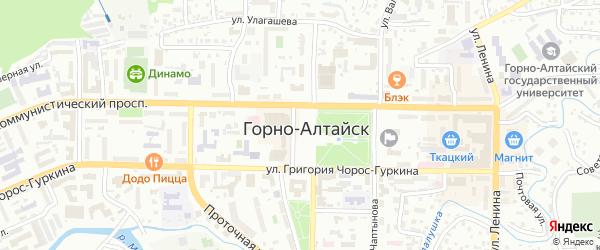 Дачный переулок на карте Горно-Алтайска с номерами домов