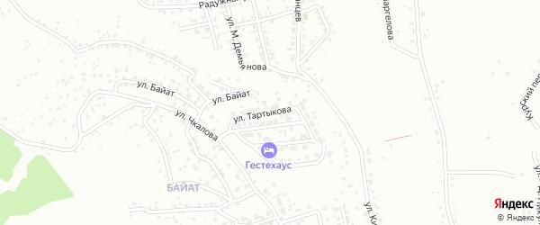 Переулок Тартыкова на карте Горно-Алтайска с номерами домов