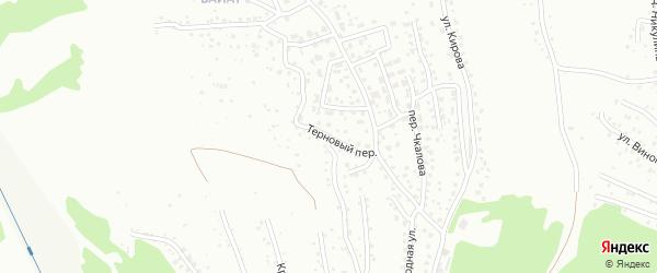 Терновый переулок на карте Горно-Алтайска с номерами домов