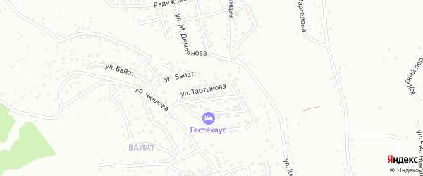Улица Им С.Тартыкова на карте Горно-Алтайска с номерами домов