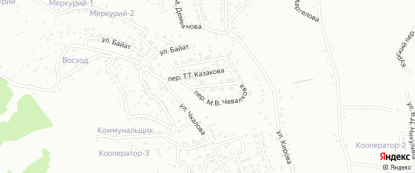 Улица Камзаракова на карте Горно-Алтайска с номерами домов