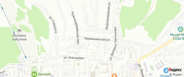 Черемшанская улица на карте Горно-Алтайска с номерами домов