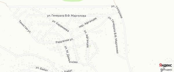 Улица Афганцев на карте Горно-Алтайска с номерами домов