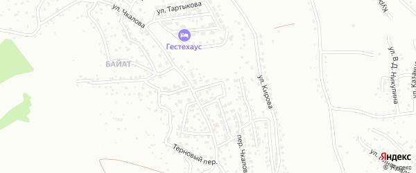 Звонкий переулок на карте Горно-Алтайска с номерами домов
