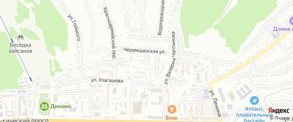 Черемшанский переулок на карте Горно-Алтайска с номерами домов