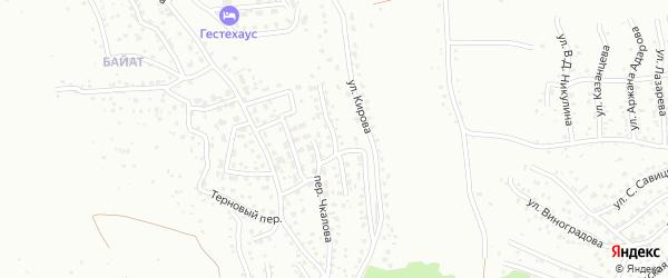 Коммунальная улица на карте Горно-Алтайска с номерами домов