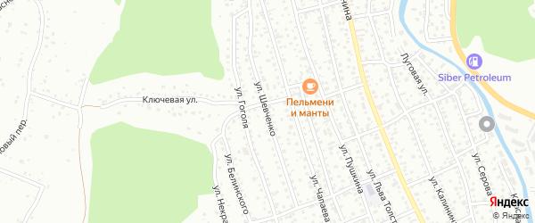 Улица Шевченко на карте Горно-Алтайска с номерами домов