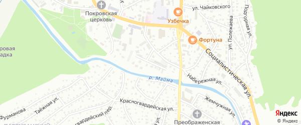 Набережный переулок на карте Горно-Алтайска с номерами домов
