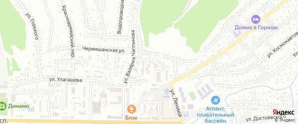 Улица Мичурина на карте Горно-Алтайска с номерами домов