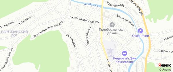 Родниковая улица на карте Горно-Алтайска с номерами домов