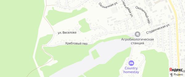 Хребтовый переулок на карте Горно-Алтайска с номерами домов