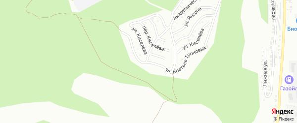 Улица Братьев Троновых на карте Горно-Алтайска с номерами домов