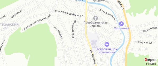 Ледяной переулок на карте Горно-Алтайска с номерами домов