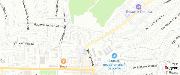 Карагужинский переулок на карте Горно-Алтайска с номерами домов
