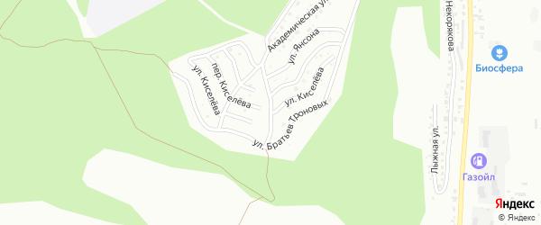 Улица Киселева на карте Горно-Алтайска с номерами домов