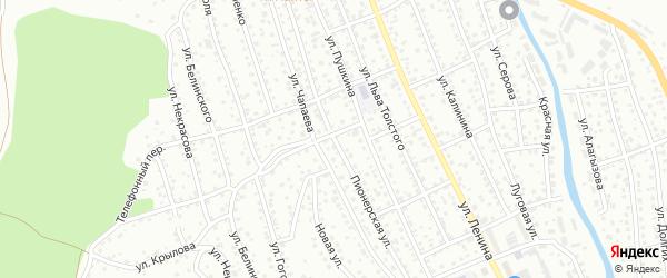 Пионерская улица на карте Горно-Алтайска с номерами домов