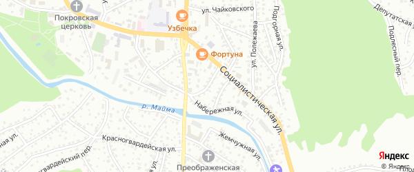 Кузнечный переулок на карте Горно-Алтайска с номерами домов