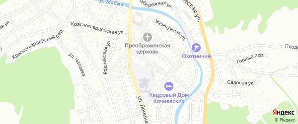 Улица Олонского на карте Горно-Алтайска с номерами домов