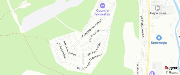 Улица Янсона на карте Горно-Алтайска с номерами домов
