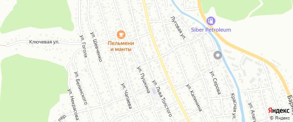 Улица Льва Толстого на карте Горно-Алтайска с номерами домов