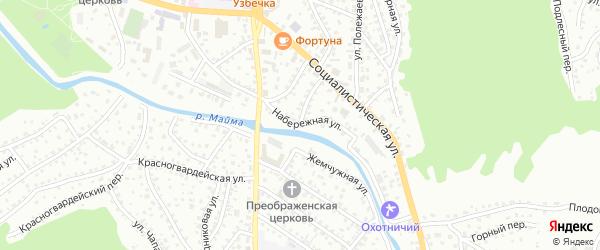 Набережная улица на карте Горно-Алтайска с номерами домов