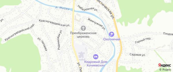 Улица Матросова на карте Горно-Алтайска с номерами домов