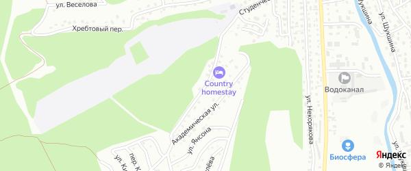 Университетская улица на карте Горно-Алтайска с номерами домов