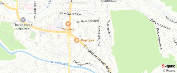 Улица Алферова на карте Горно-Алтайска с номерами домов