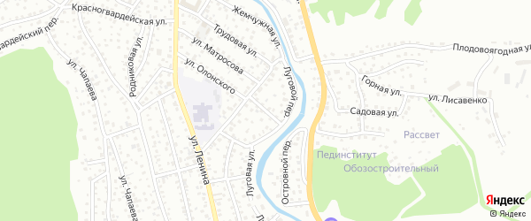 Трудовой переулок на карте Горно-Алтайска с номерами домов