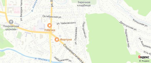 Улица Полежаева на карте Горно-Алтайска с номерами домов