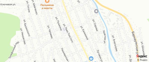 Улица Ленина на карте Горно-Алтайска с номерами домов