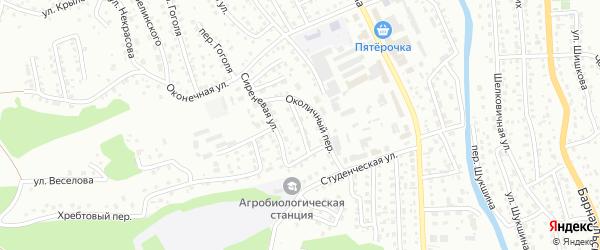 Сквозной переулок на карте Горно-Алтайска с номерами домов