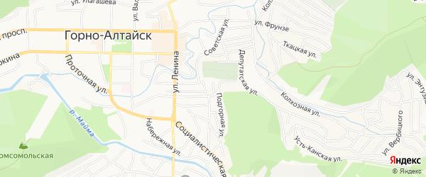 Подгорный ГСК на карте Горно-Алтайска с номерами домов