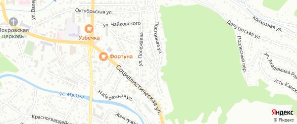 Молодежная улица на карте Горно-Алтайска с номерами домов