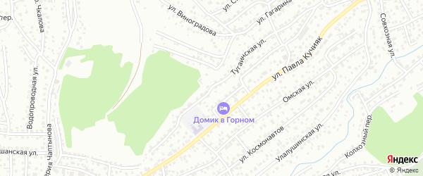 Тугаинская улица на карте Горно-Алтайска с номерами домов