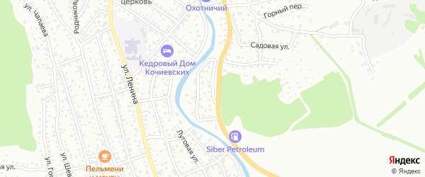 Островной переулок на карте Горно-Алтайска с номерами домов