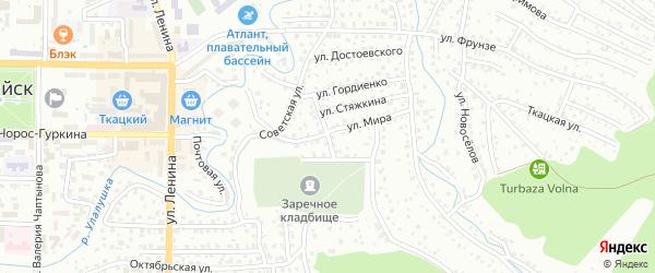Пимокатный переулок на карте Горно-Алтайска с номерами домов