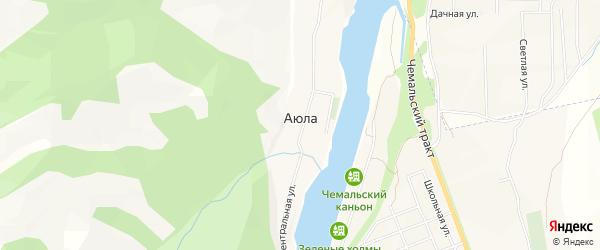 Карта села Аюлы в Алтае с улицами и номерами домов