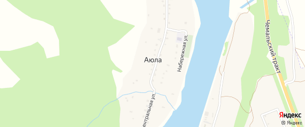 Набережная улица на карте села Аюлы Алтая с номерами домов