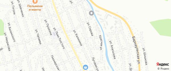 Луговая улица на карте Горно-Алтайска с номерами домов