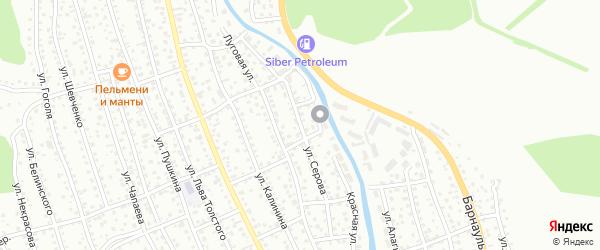 Улица Серова на карте Горно-Алтайска с номерами домов