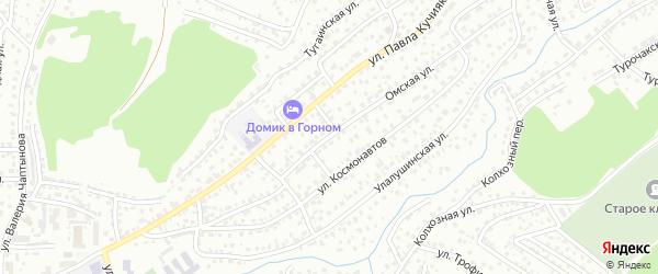 Омская улица на карте Горно-Алтайска с номерами домов