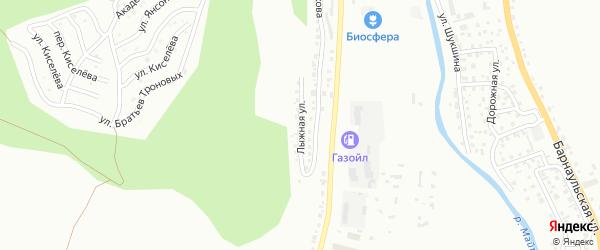 Лыжная улица на карте Горно-Алтайска с номерами домов