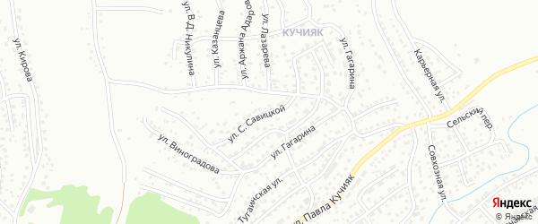Улица С.Савицкой на карте Горно-Алтайска с номерами домов