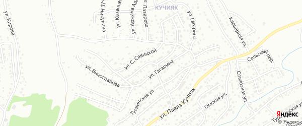 Улица В.Терешковой на карте Горно-Алтайска с номерами домов