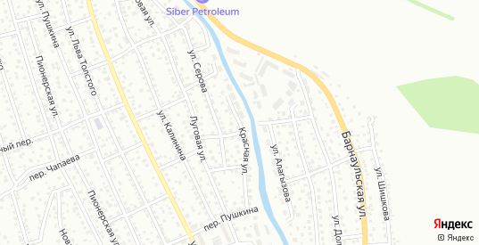 Красная улица в Горно-Алтайске с номерами домов на карте. Спутник и схема онлайн