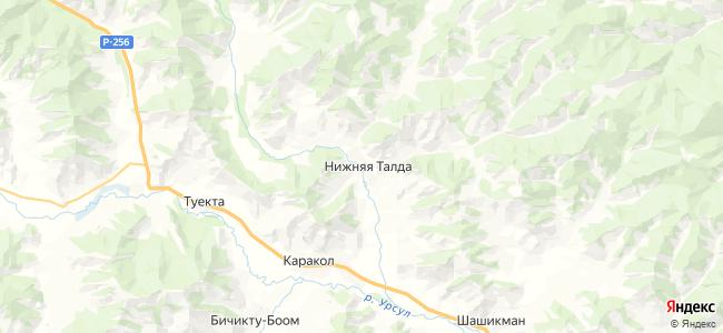 Нижняя Талда на карте